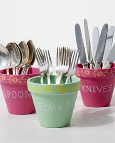 DIY Summer Party Decor Idea - Utensil Holders