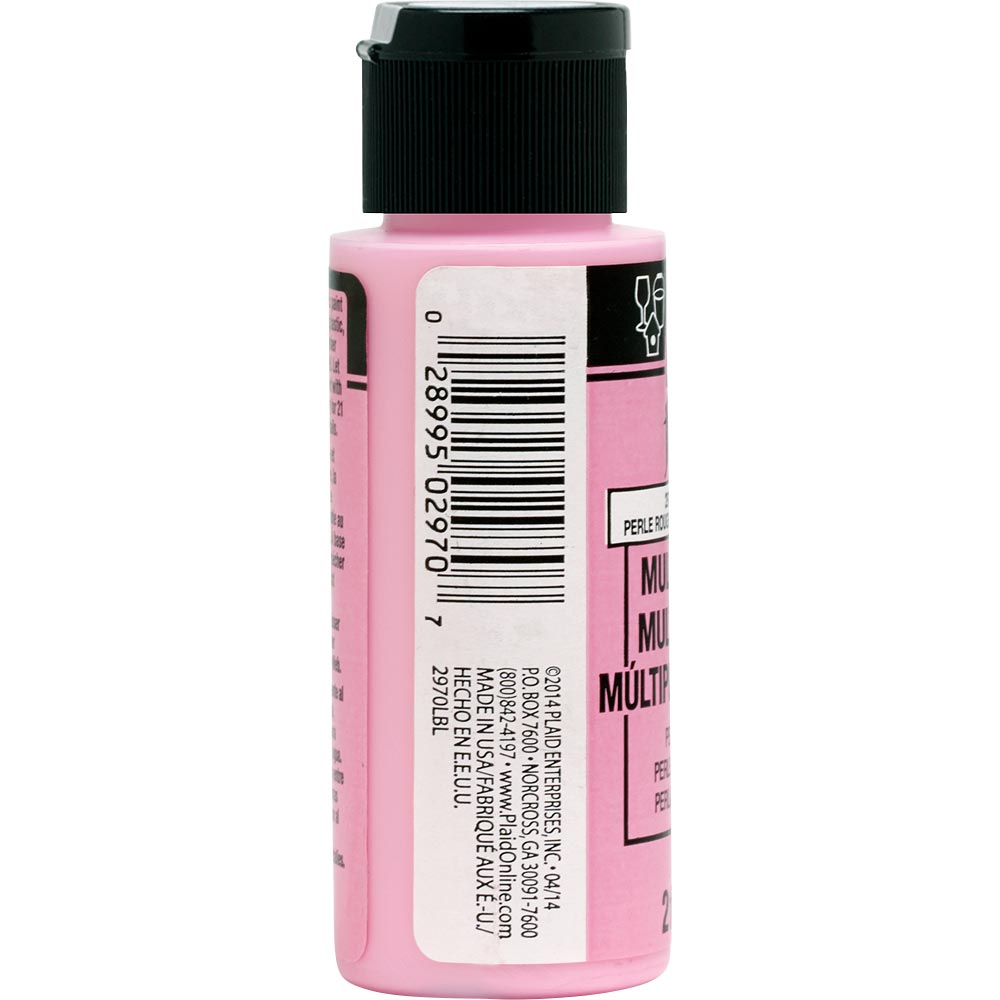 FolkArt ® Multi-Surface Pearl Acrylic Paints - Pink Rouge, 2 oz.
