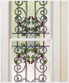 Wrought Iron Double Hung Window