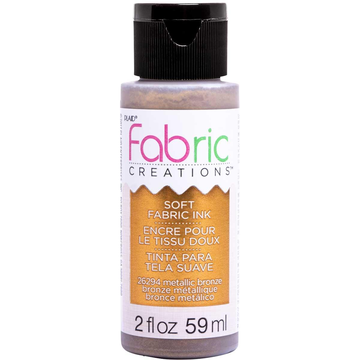 Fabric Creations™ Soft Fabric Inks - Metallic Bronze, 2 oz. - 26294