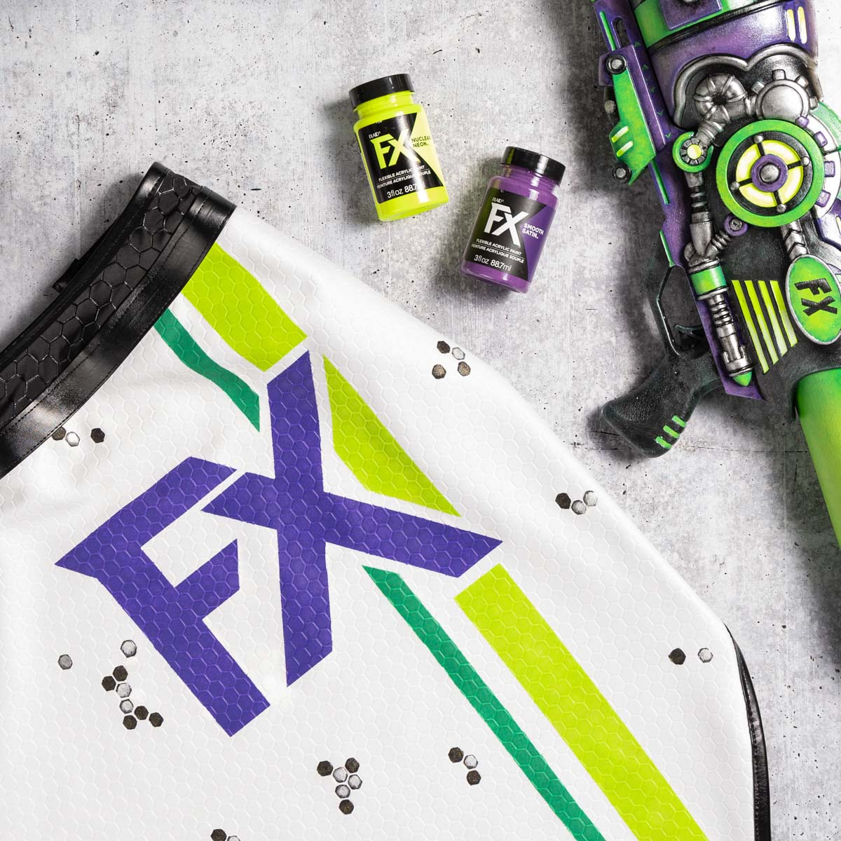 Stenciling PlaidFX on Fabric