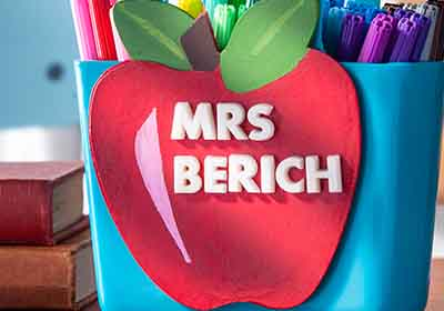 Customized Teacher Gift with Mod Melt Letters