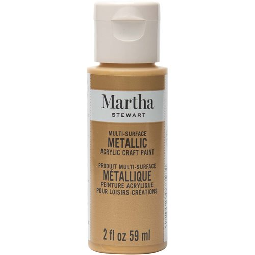 Martha Stewart ® Multi-Surface Metallic Acrylic Craft Paint - Pale Bronze, 2 oz.