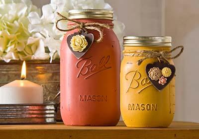 Vintage Inspired Mason Jars