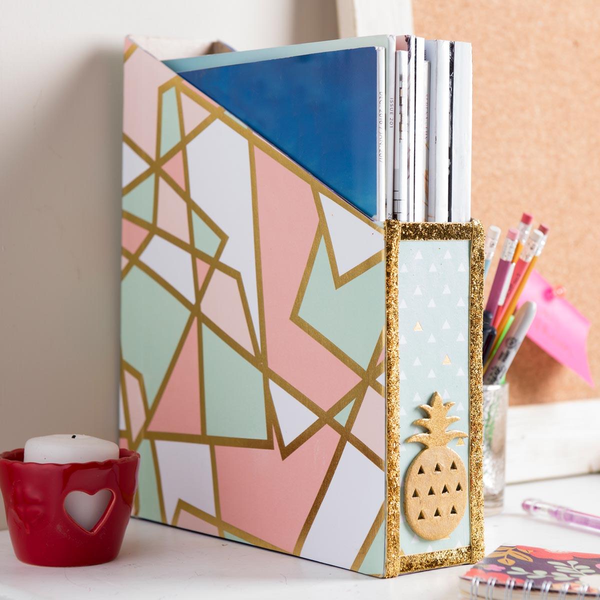 Magazine Holder Cereal Box Craft