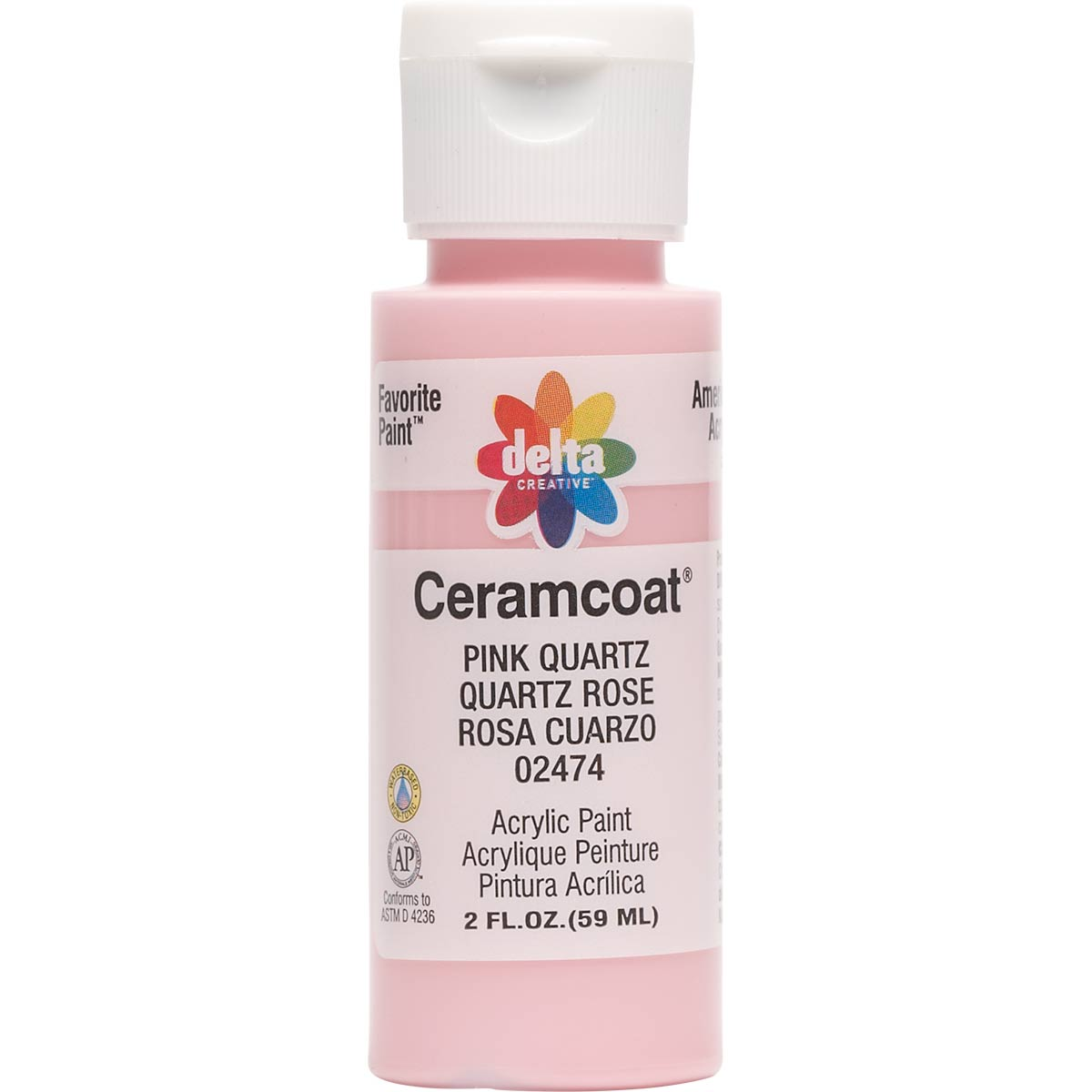 Delta Ceramcoat ® Acrylic Paint - Pink Quartz, 2 oz. - 024740202W