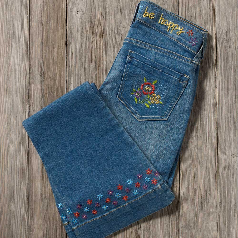 Bucilla ® Fashion Embroidery Kit - Be Happy - 49136E