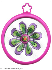 Bucilla ® My 1st Stitch™ - Counted Cross Stitch Kits - Mini - Flower - 45444