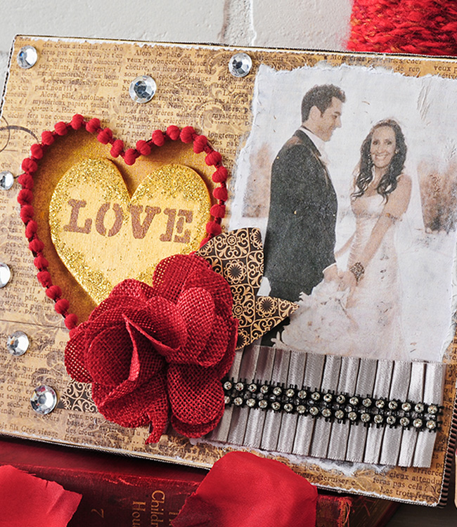 Romantic Collage Valentine Frame - Project | Plaid Online