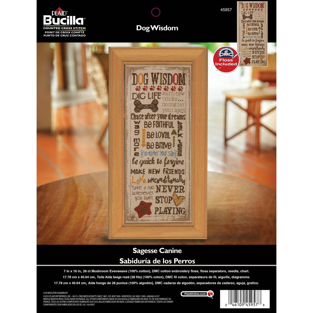 Bucilla ® Counted Cross Stitch - Picture Kits - Dog Wisdom