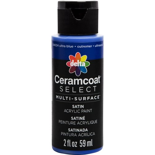 Delta Ceramcoat ® Select Multi-Surface Acrylic Paint - Satin - Ultra Bue, 2 oz.