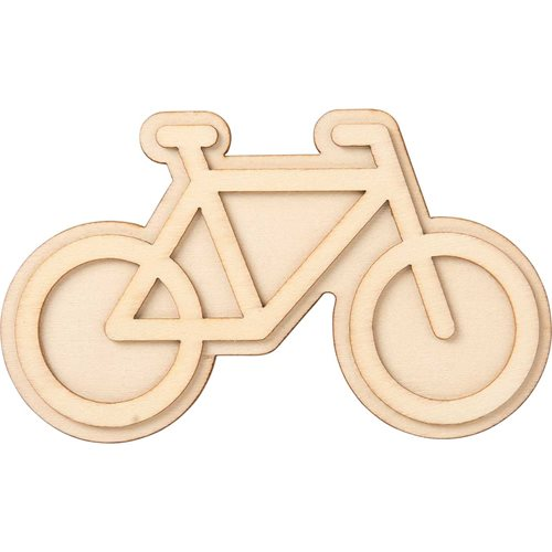 Plaid ® Wood Surfaces - Unpainted Layered Shapes - Bicycle