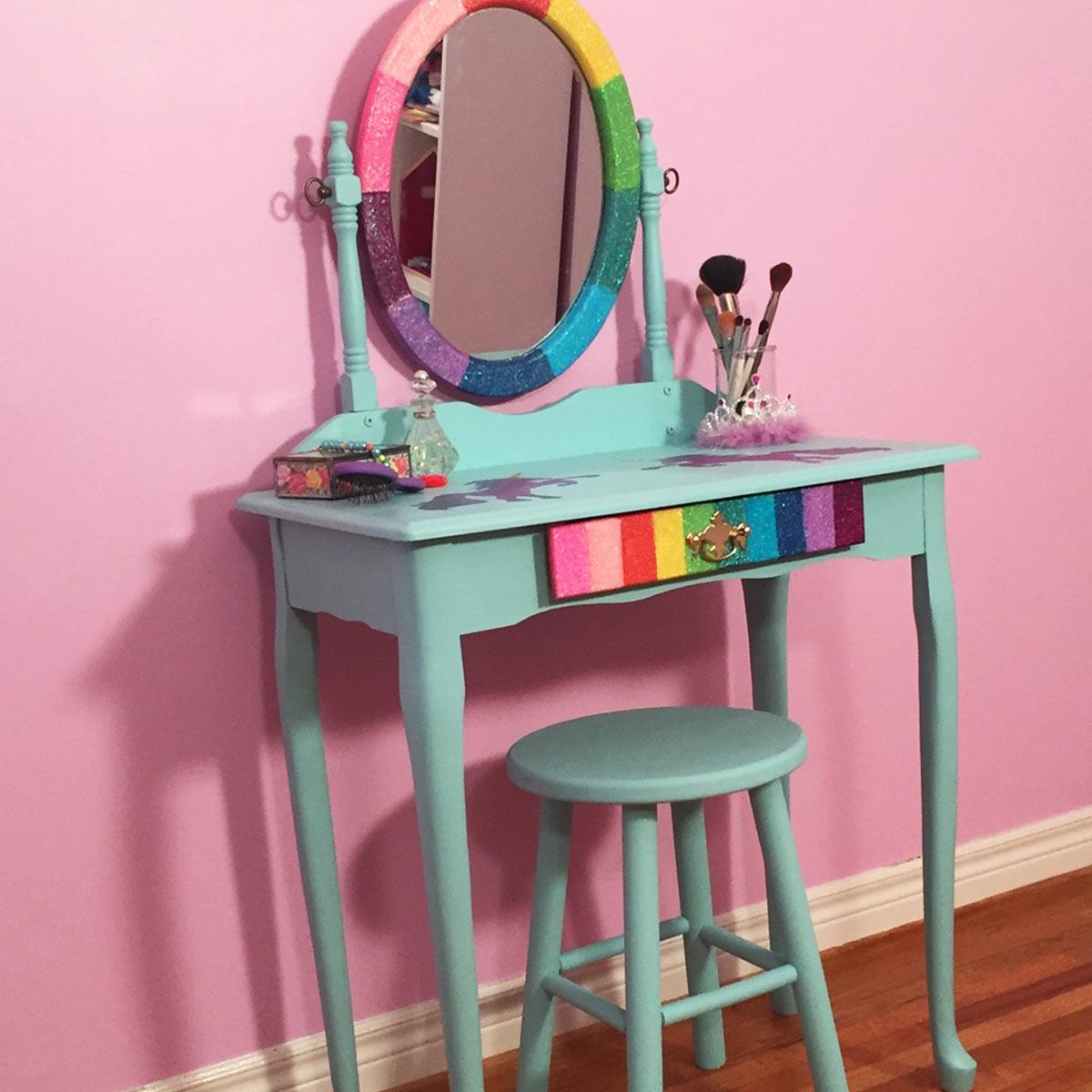 Rainbow Unicorn Vanity
