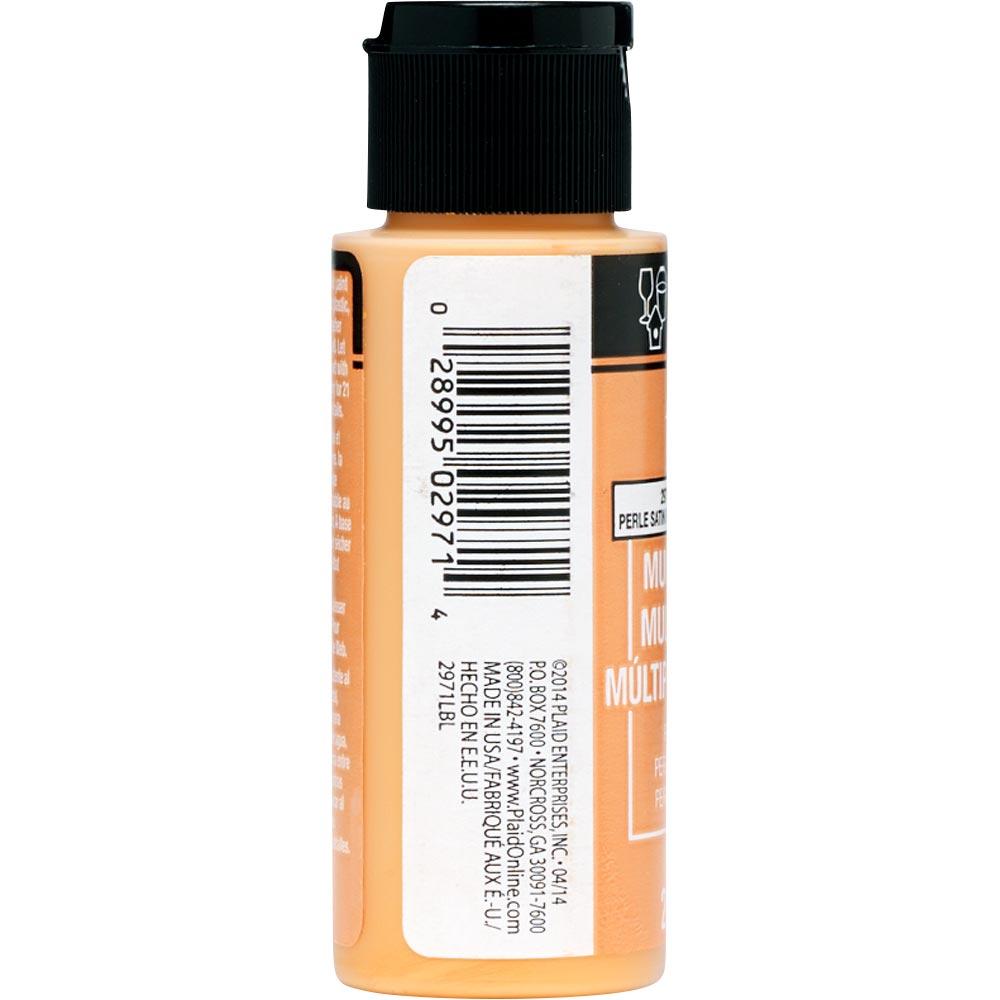 FolkArt ® Multi-Surface Pearl Acrylic Paints - Mandarin Satin, 2 oz. - 2971