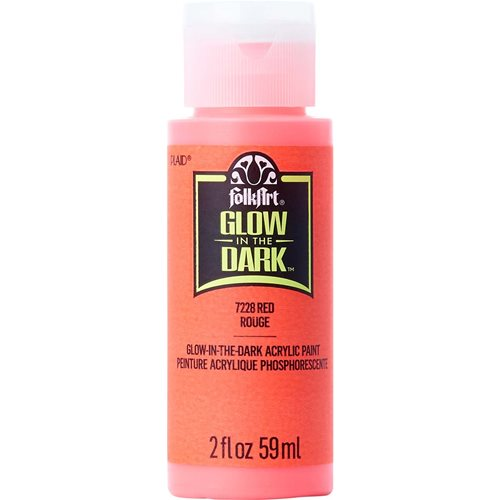 FolkArt ® Glow-in-the-Dark Acrylic Colors - Red, 2 oz. - 7228
