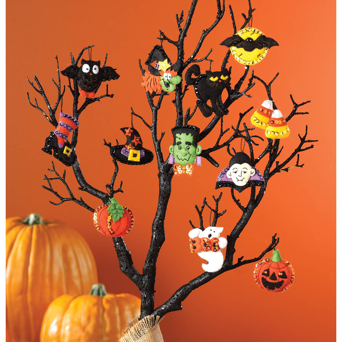 Bucilla ® Seasonal - Felt - Ornament Kits - Halloween