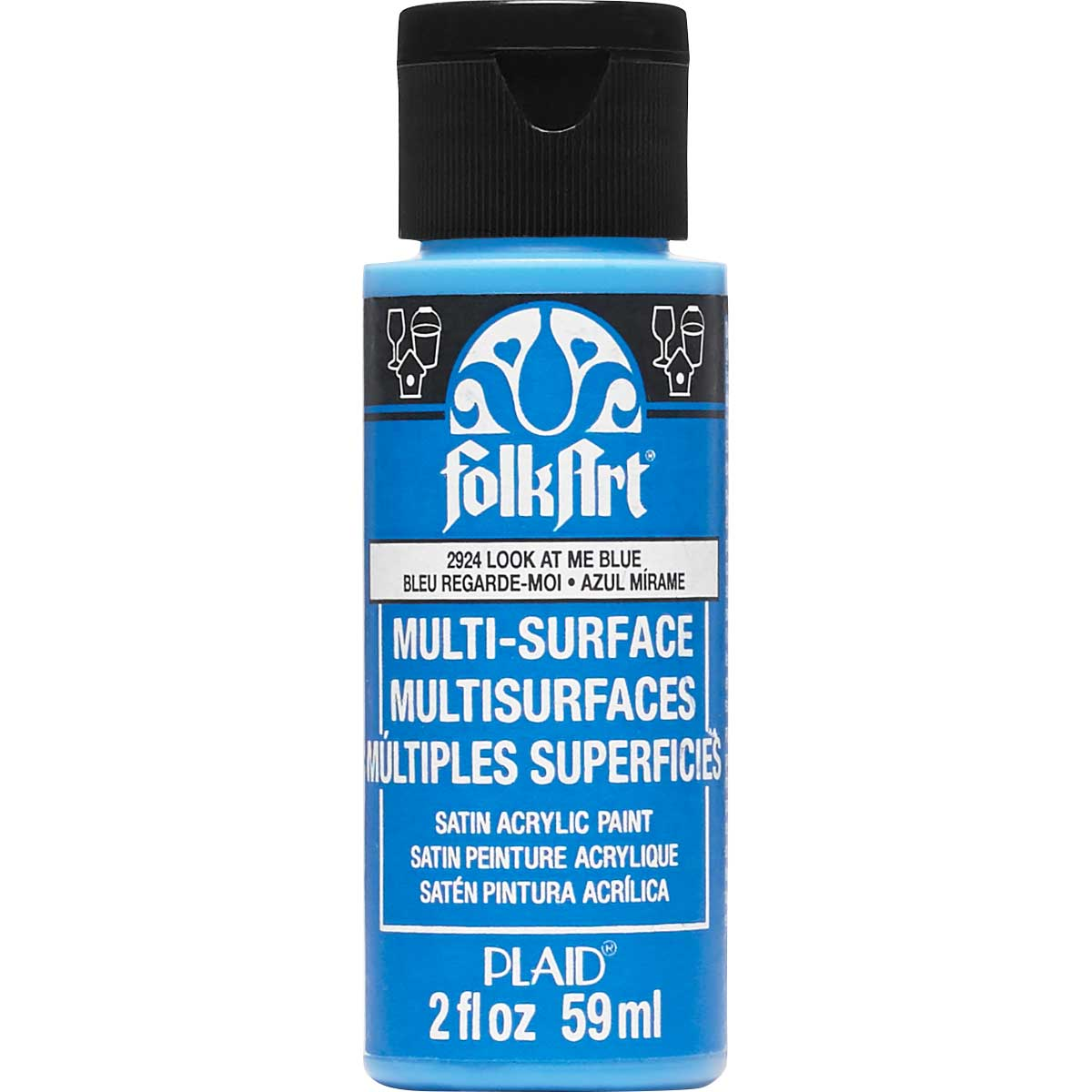 FolkArt ® Multi-Surface Satin Acrylic Paints - Look at Me Blue, 2 oz.