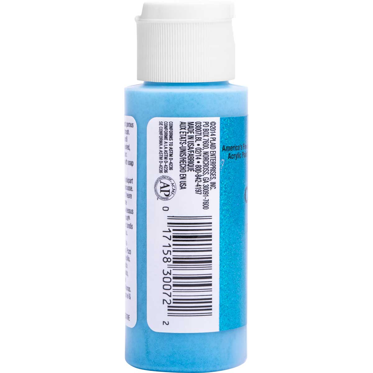 Delta Ceramcoat ® Acrylic Paint - Glitter Blue, 2 oz. - 03007