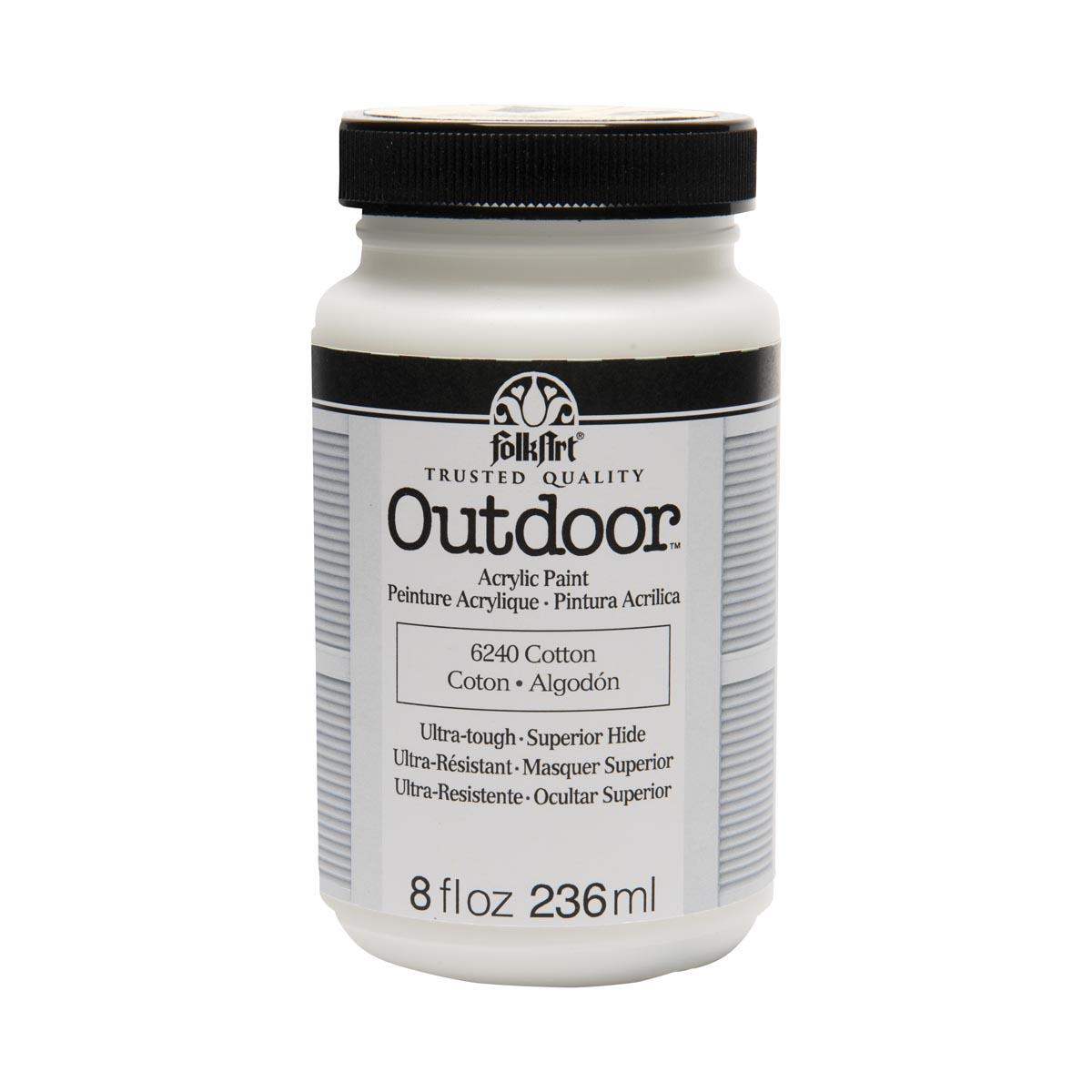 FolkArt ® Outdoor™ Acrylic Colors - Cotton, 8 oz.