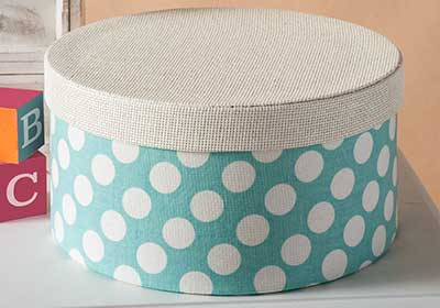Fabric Covered Hat Boxes for a Baby Nursery