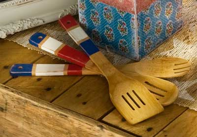 4th of July Wooden Table Utensils