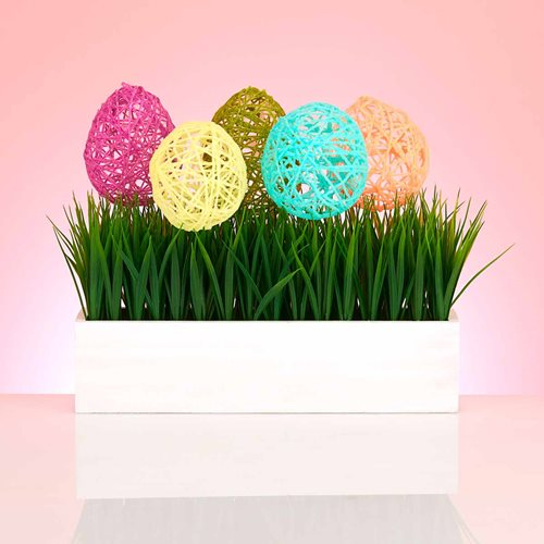 Over-Sized Yarn Easter Eggs