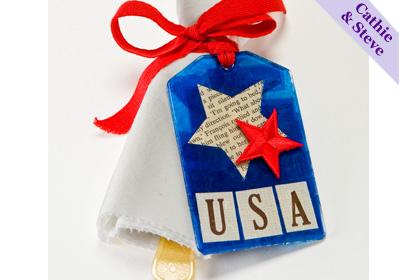 Patriotic Napkin Tag