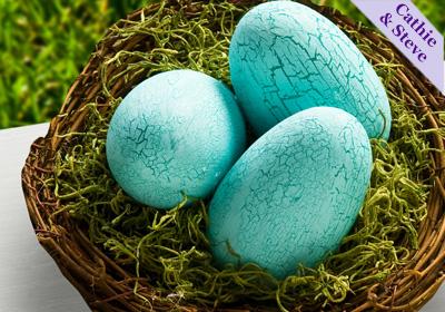 Crackle Finish Easter Eggs