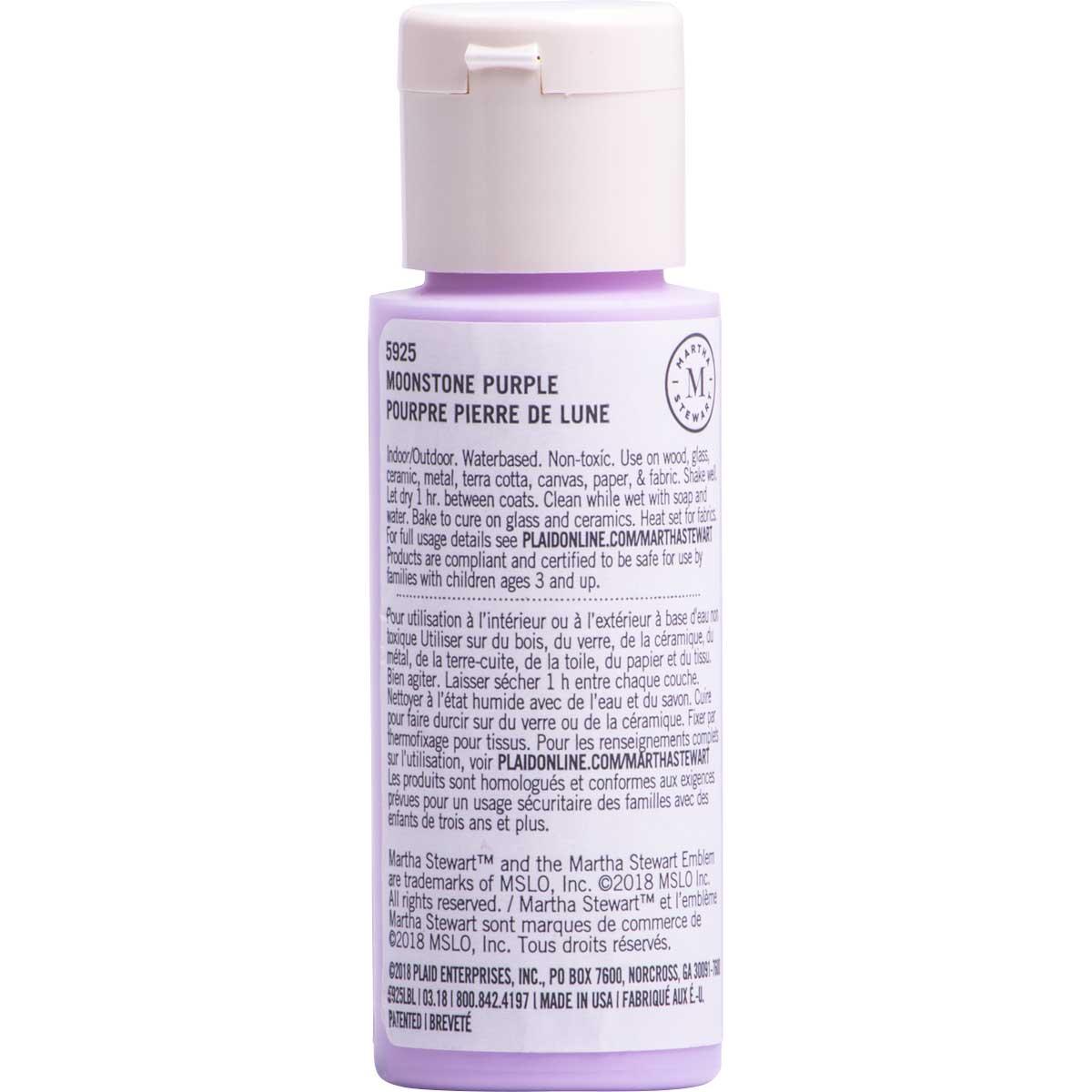 Martha Stewart ® Multi-Surface Satin Acrylic Craft Paint CPSIA - Moonstone Purple, 2 oz. - 5925