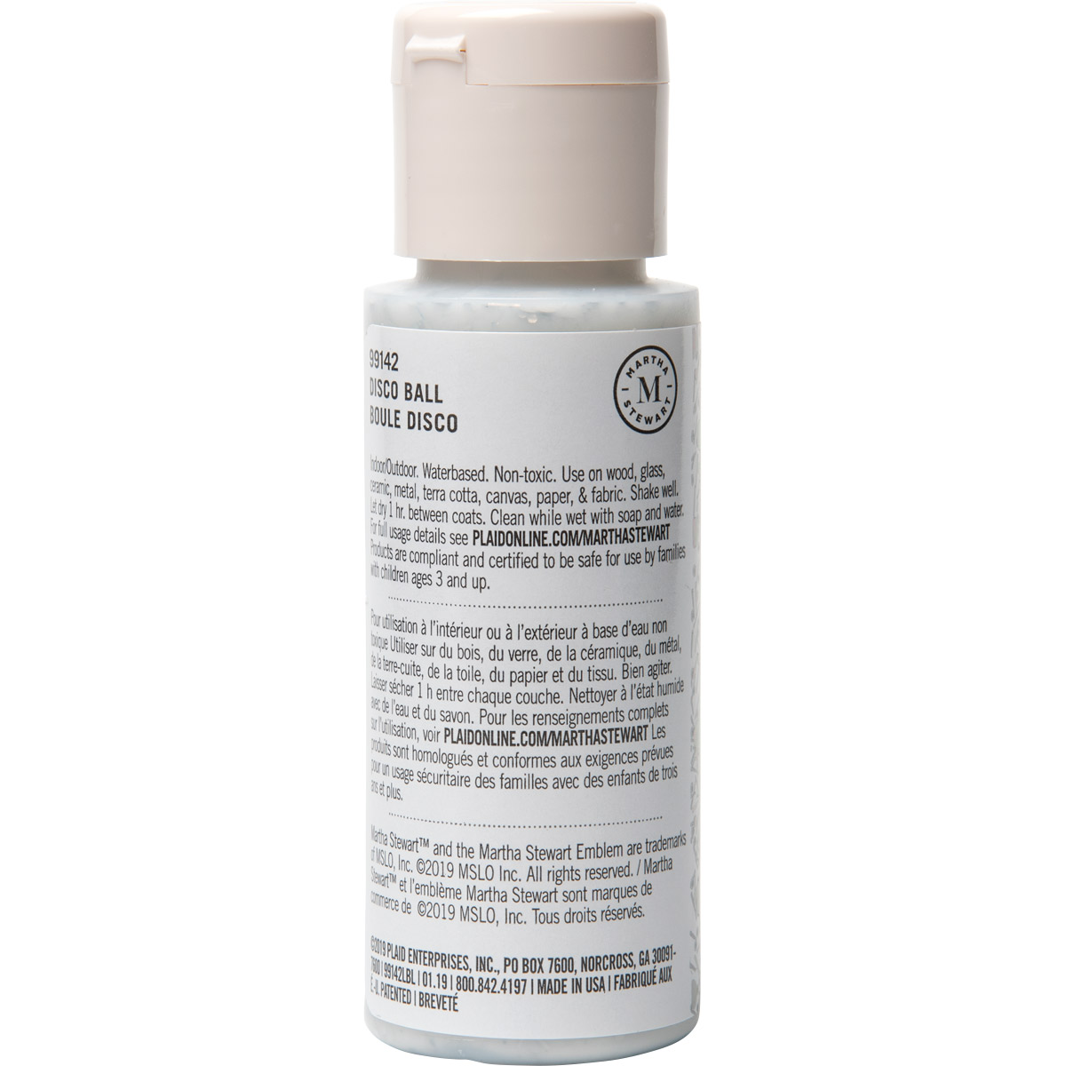 Martha Stewart ® Multi-Surface Confetti Glitter Acrylic Craft Paint CPSIA - Disco Ball, 2 oz. - 9914