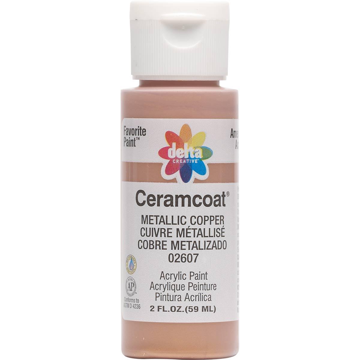Delta Ceramcoat ® Acrylic Paint - Metallic Copper, 2 oz. - 026070202W