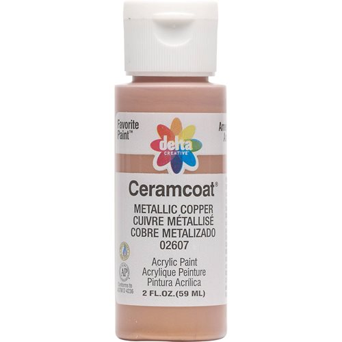 Delta Ceramcoat ® Acrylic Paint - Metallic Copper, 2 oz.