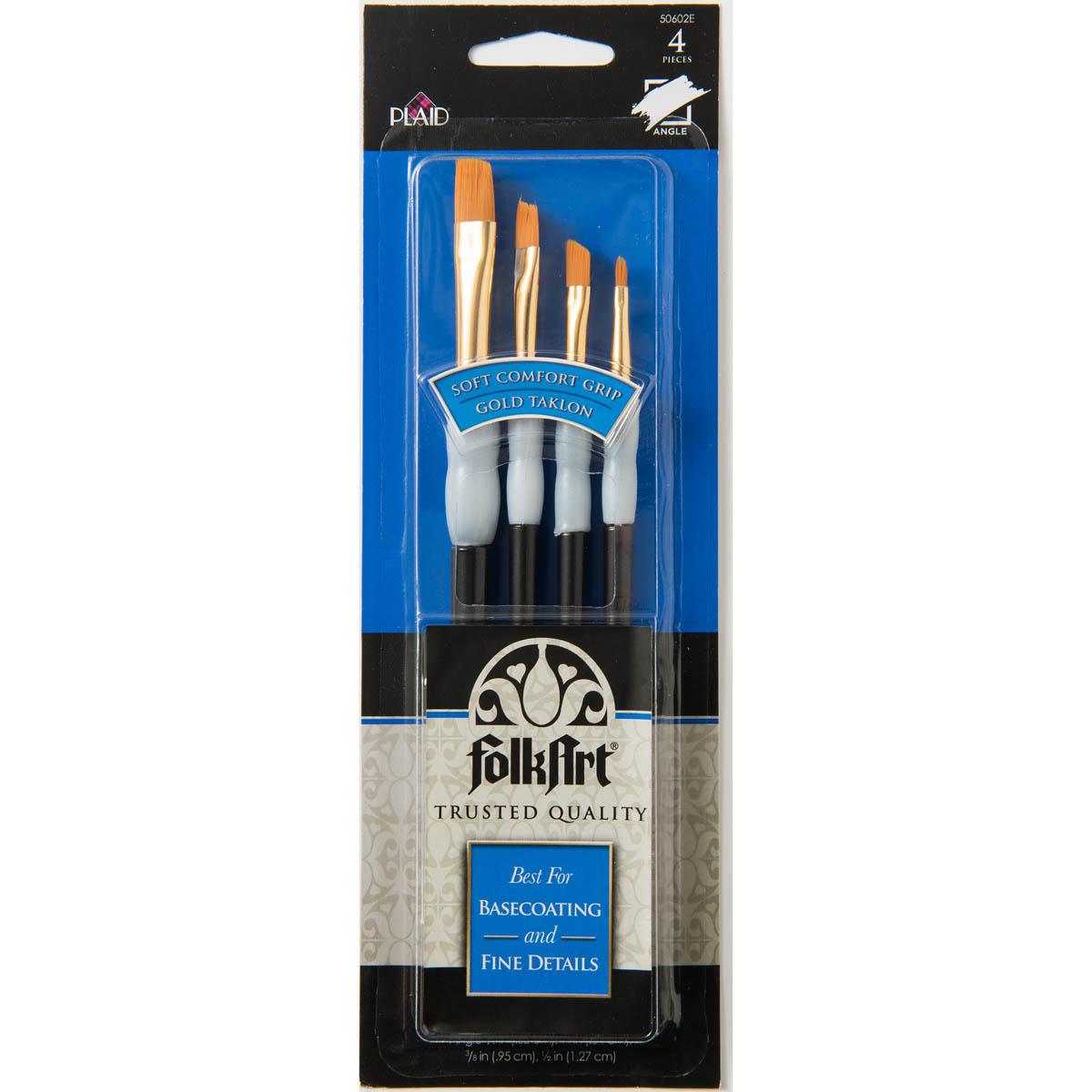 FolkArt ® Brush Sets - Soft Grip - Angular Brush Set