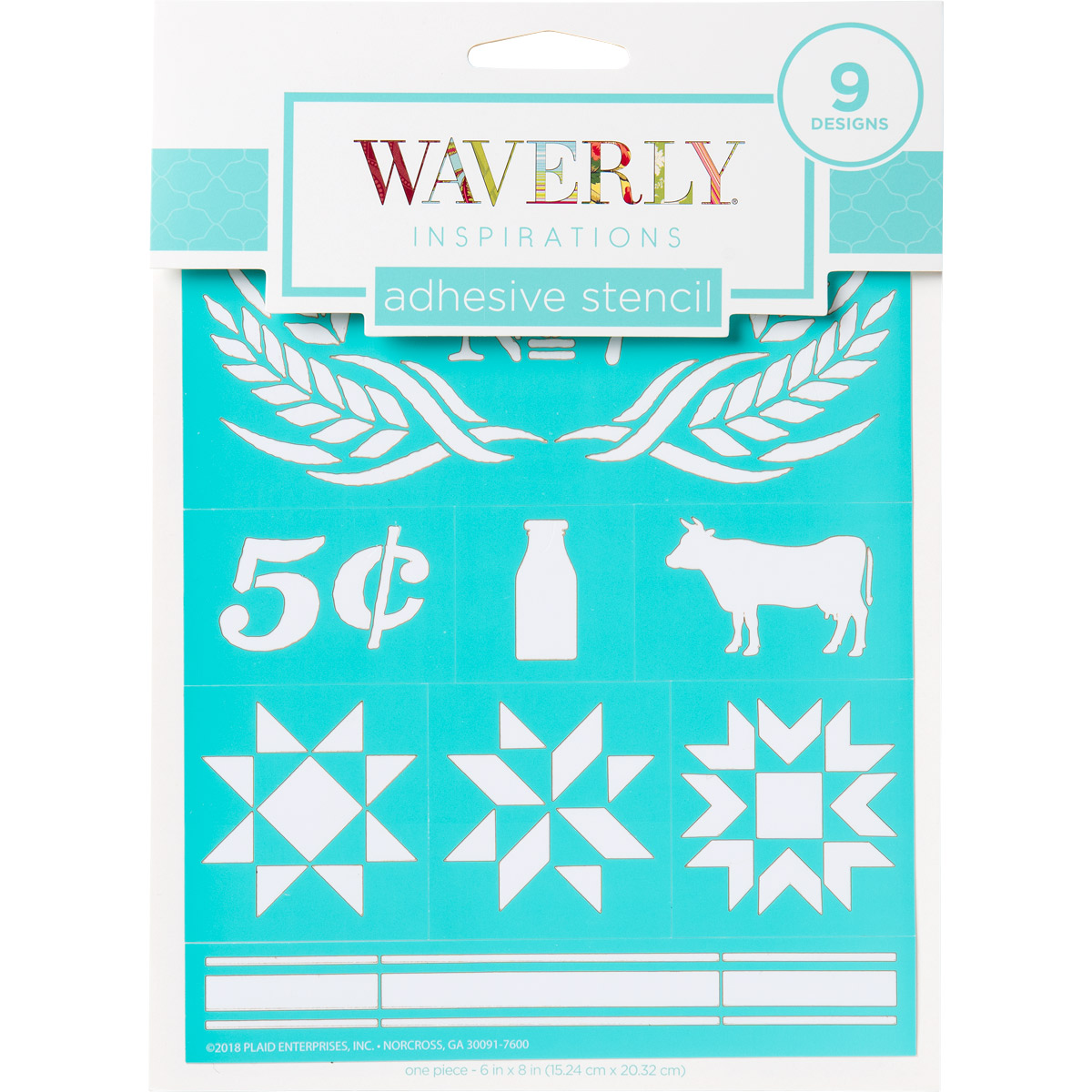 Waverly ® Inspirations Laser-cut Adhesive Stencils - Farmhouse, 6