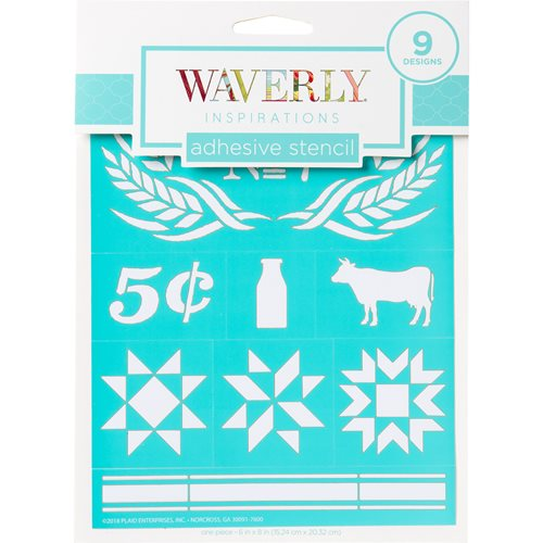 "Waverly ® Inspirations Laser-cut Adhesive Stencils - Farmhouse, 6"" x 8"" - 22764E"