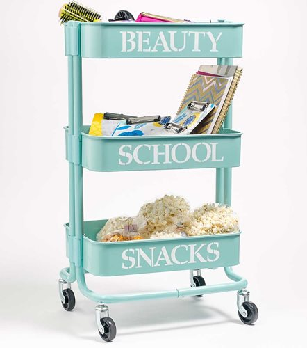 DIY Dorm Decor - Personalized Trolley Cart
