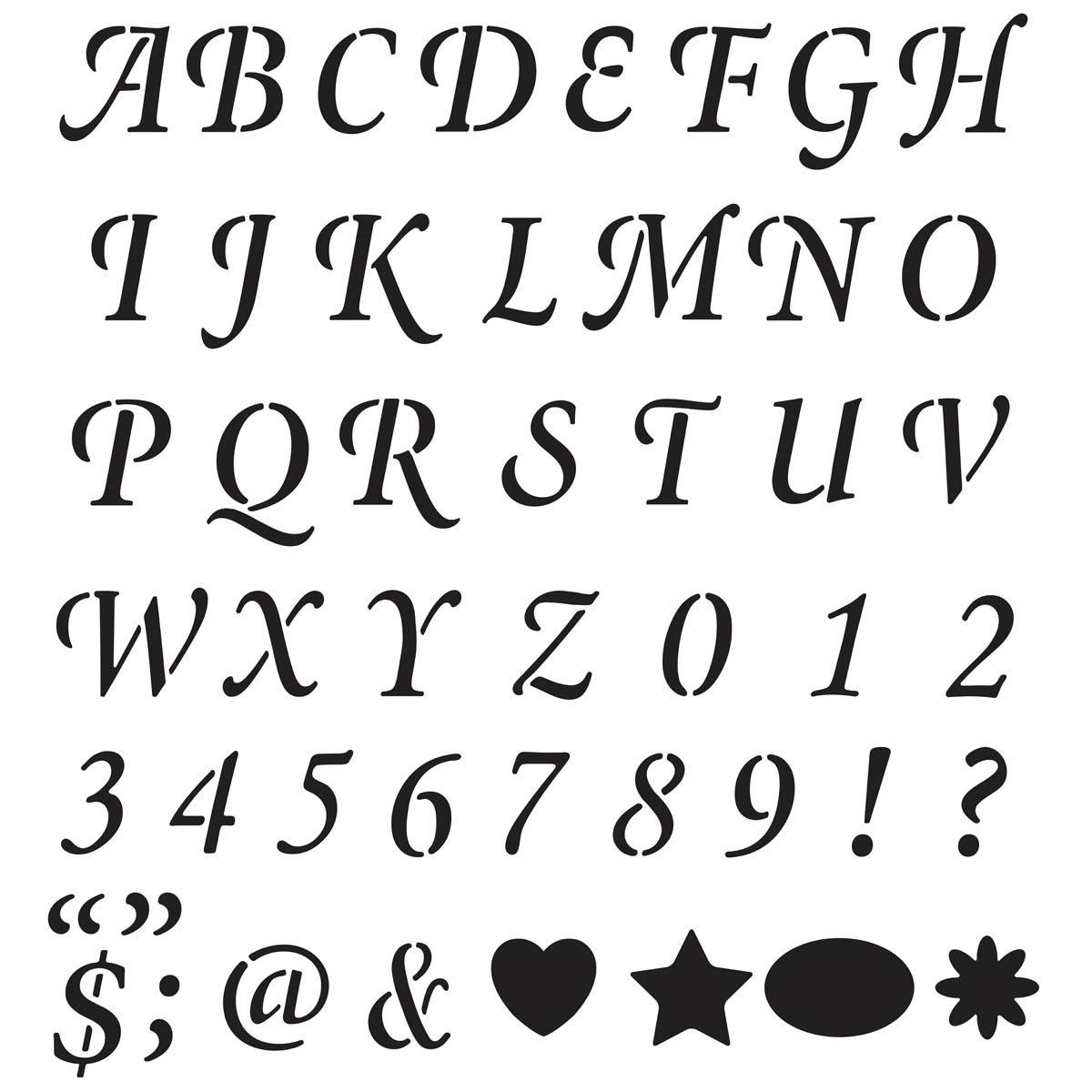 plaid stencils value packs letter stencils 2