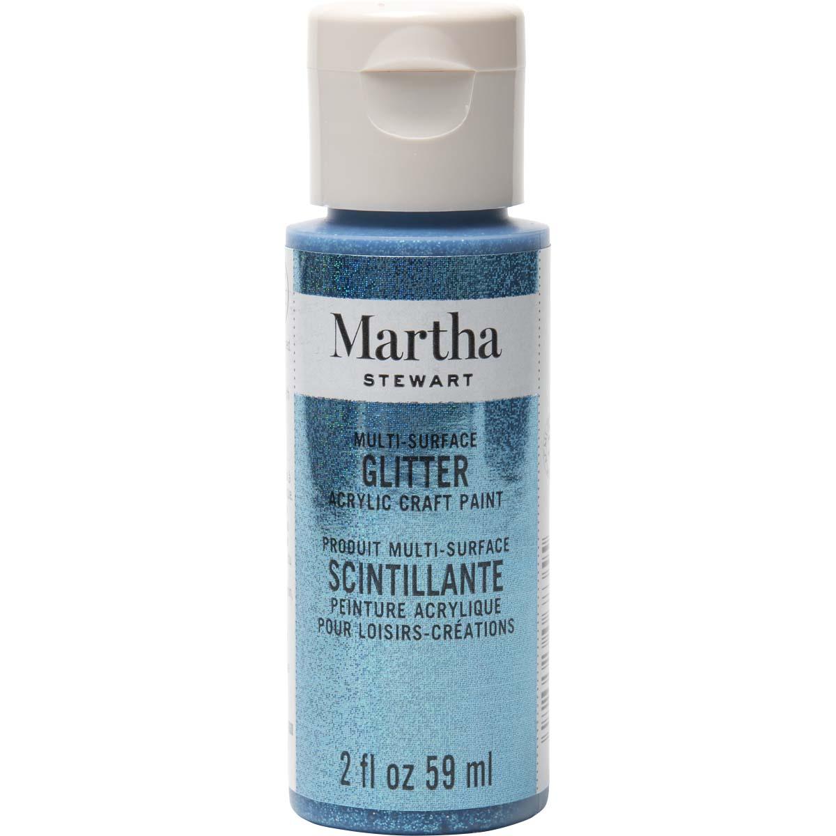 Martha Stewart® 2oz Multi-Surface Glitter Acrylic Craft Paint - Lapis Lazuli