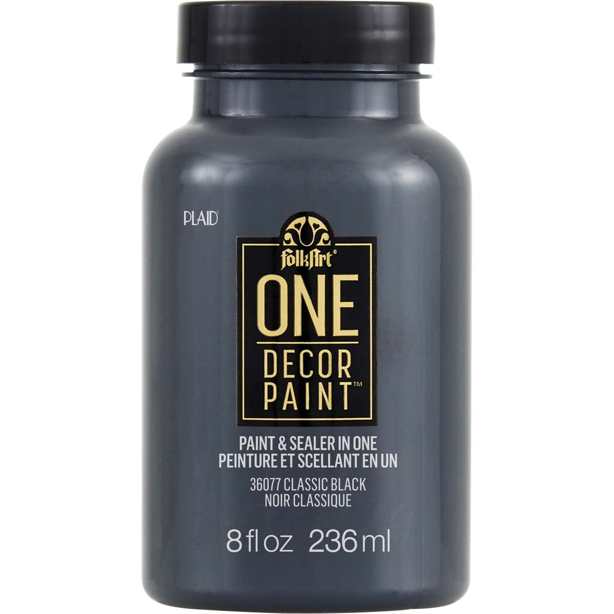 FolkArt ® One Décor Paint™ - Classic Black, 8 oz. - 36077