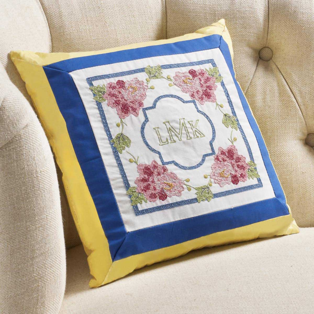 Bucilla Waverly Charmed Collection Stamped Pillow