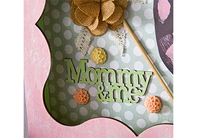 Mommy and Me Handprint Shadow Box