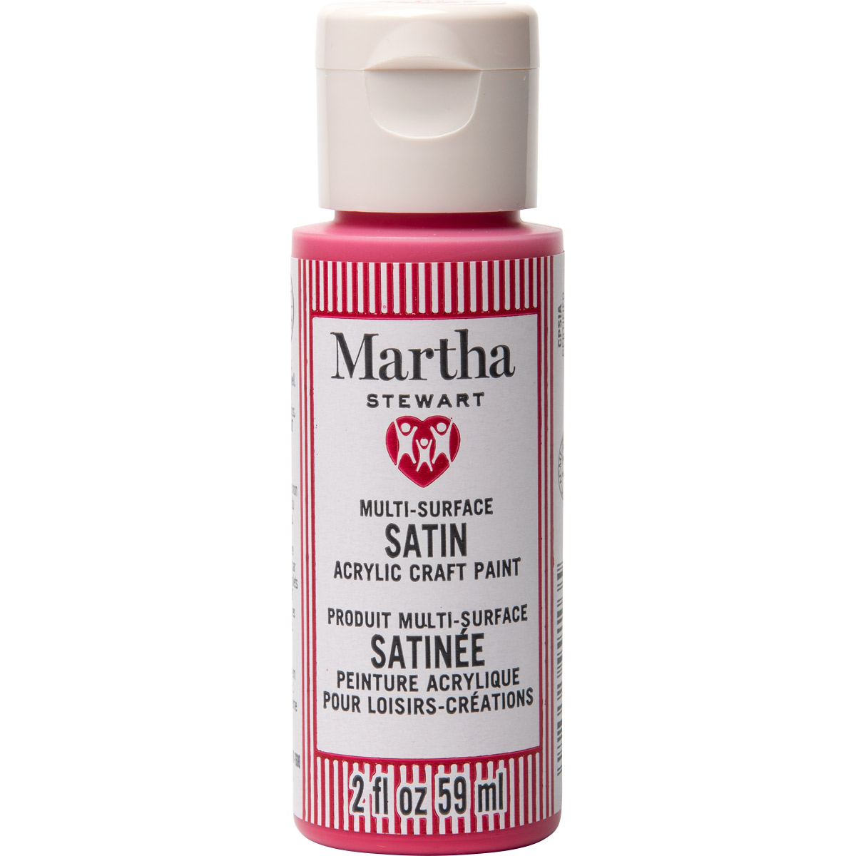 Martha Stewart ® Multi-Surface Satin Acrylic Craft Paint CPSIA - Candy Apple, 2 oz. - 99103
