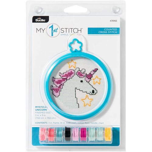 Bucilla ® My 1st Stitch™ - Counted Cross Stitch Kits - Mini - Mystical Unicorn - 47816E