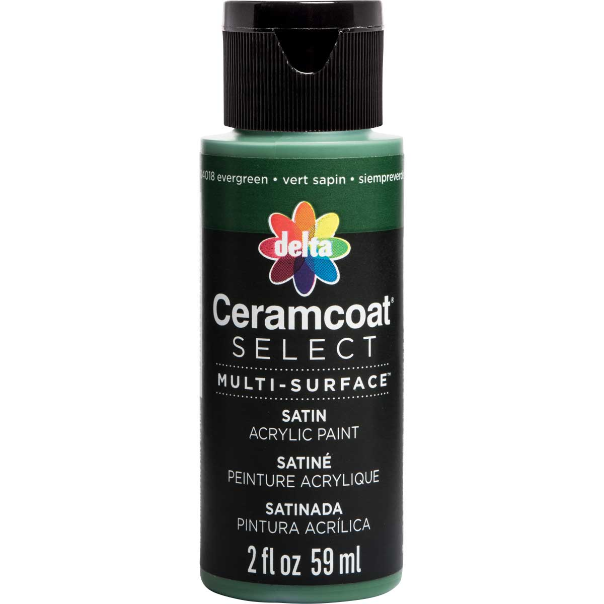 Delta Ceramcoat ® Select Multi-Surface Acrylic Paint - Satin - Evergreen, 2 oz. - 04018