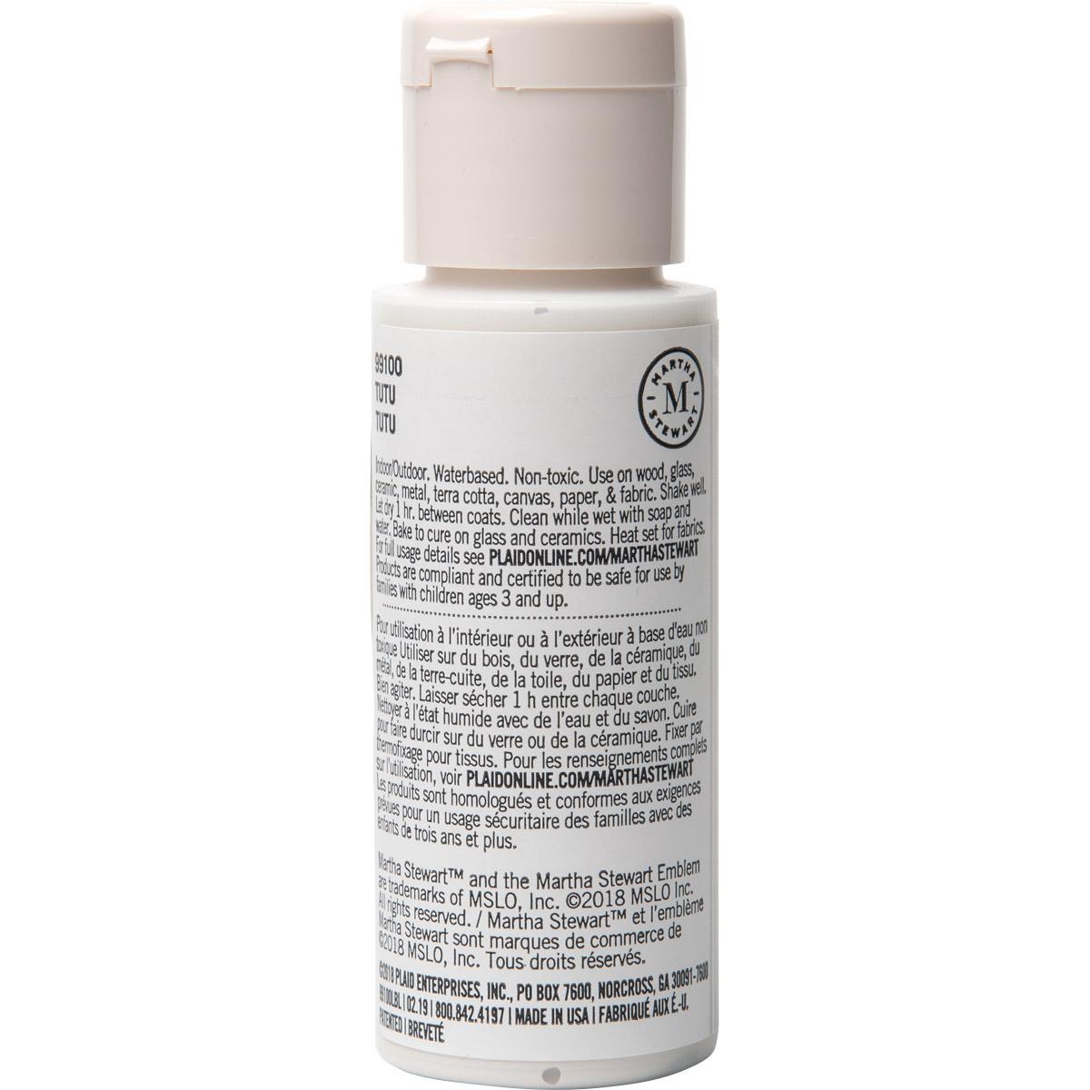 Martha Stewart ® Multi-Surface Satin Acrylic Craft Paint CPSIA - Tutu, 2 oz. - 99100