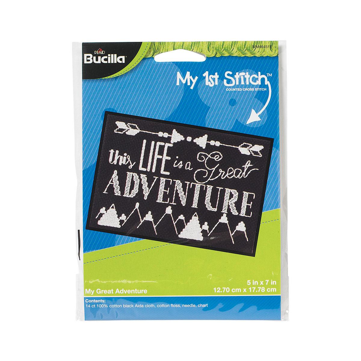 Bucilla ® My 1st Stitch™ - Counted Cross Stitch Kits - My Great Adventure - WM46451E