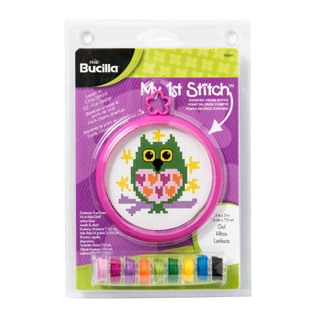 Bucilla ® My 1st Stitch™ - Counted Cross Stitch Kits - Mini - Owl - 45641