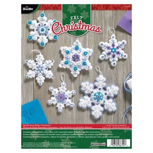 Bucilla ® Seasonal - Felt - Ornament Kits - Sparkle Snowflakes