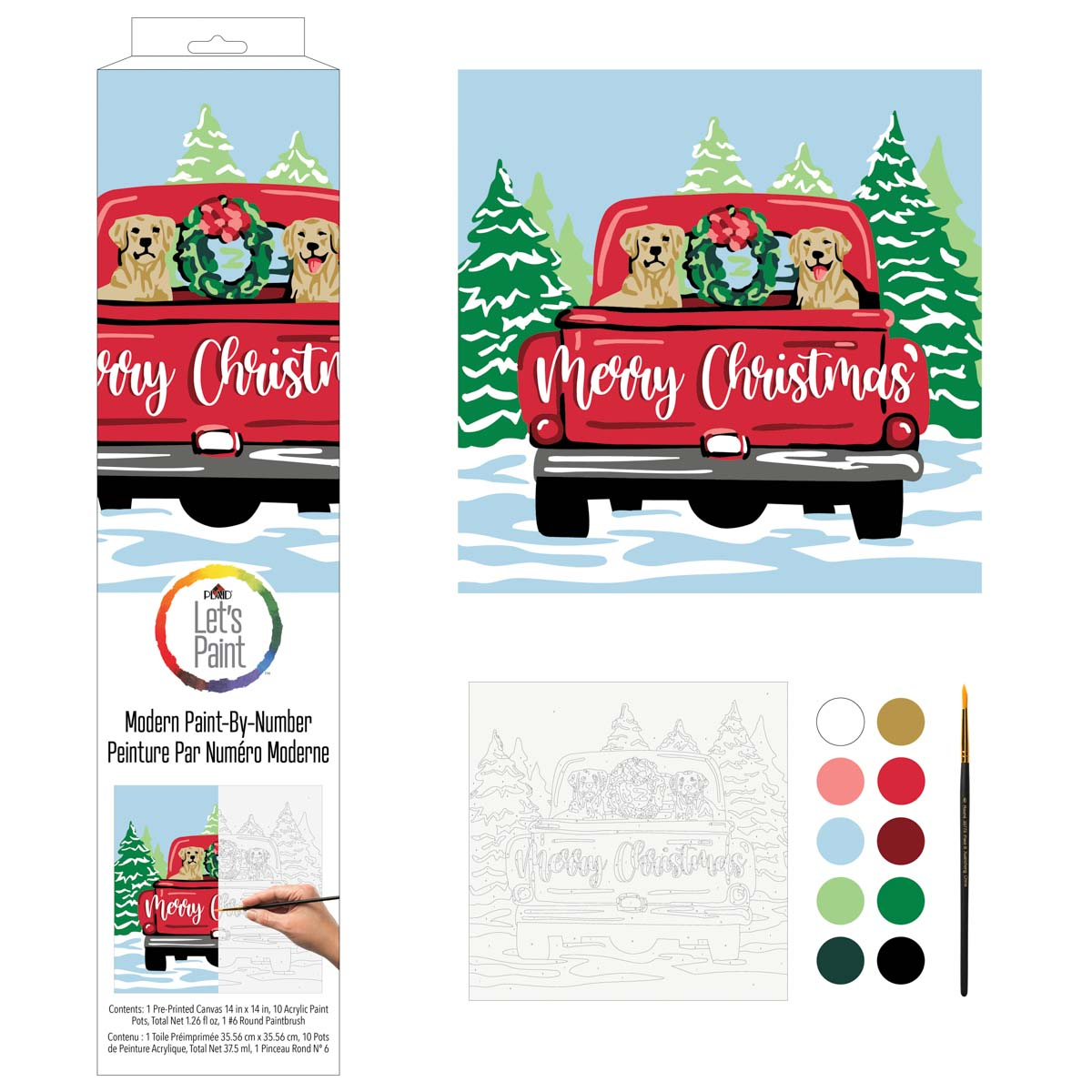 Plaid ® Let's Paint™ Modern Paint-by-Number - Christmas Labs - 17925