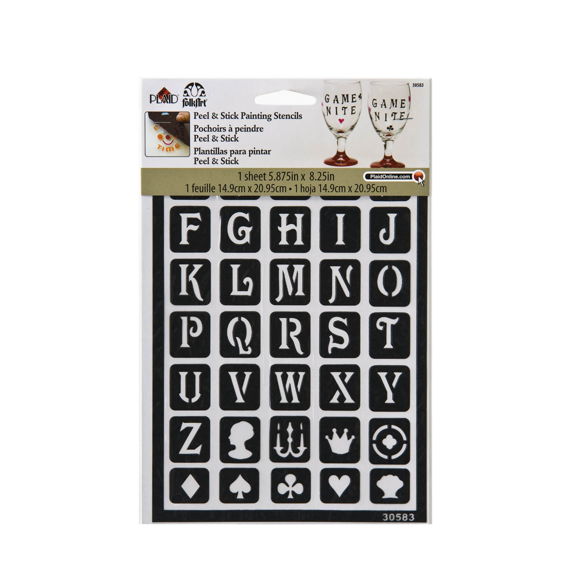 FolkArt ® Peel & Stick Painting Stencils™ - Classic Alphabet - 30583